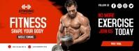 Fitness facebook Cover Facebook-omslagfoto template
