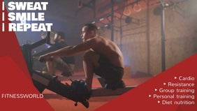 Fitness Facebook Cover Video Template
