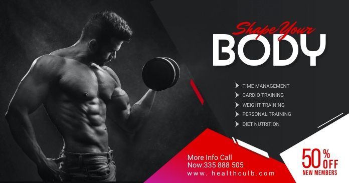 Fitness Facebook Shared Post Template