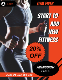 FITNESS FLYER,SMALL BUSINESS FLYER,POSTER
