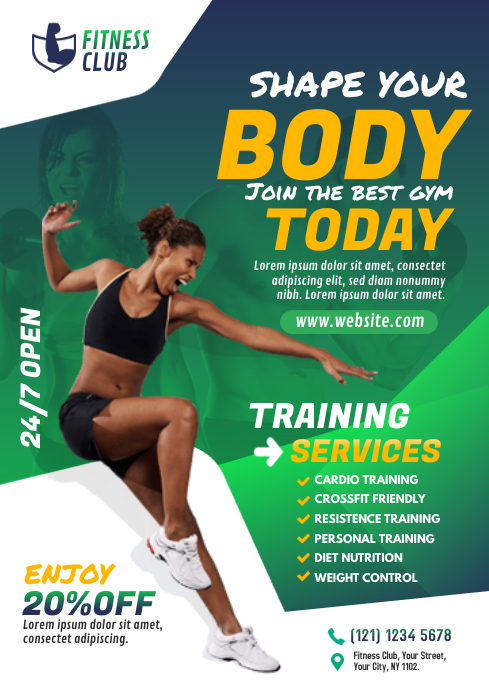 Fitness Flyer A4 template