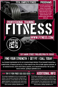 Captivating Fitness Flyer · Fitness Flyer Template