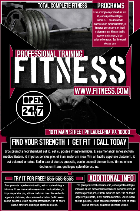 Fitness Flyer. Customize Template