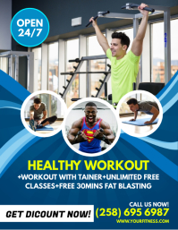 Fitness Flyer Template  Free Fitness Flyer Templates