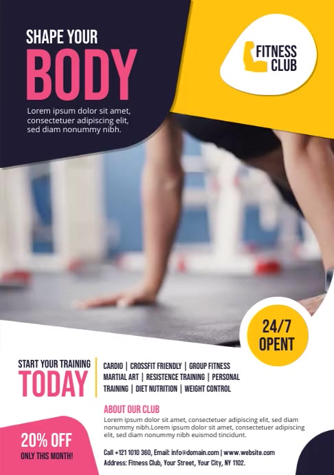 Fitness Flyer Template A4
