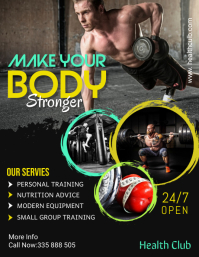 fitness flyer template Ulotka (US Letter)
