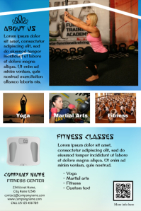 Fitness Flyers Ideas - Fully customizable print template (Blue sky background)