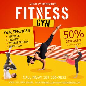 Fitness Gym Ad Instagram Post