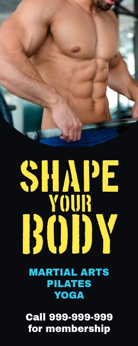 Fitness gym banner