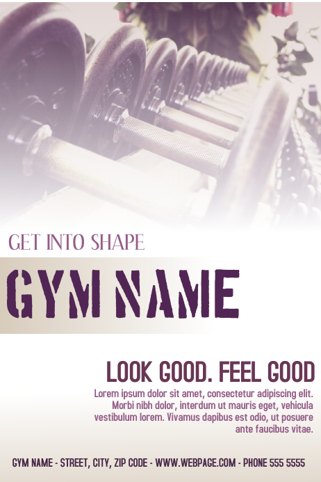 fitness gym flyer template black and gold