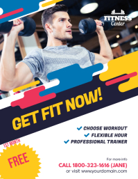 Fitness Gym Center Promotion Flyer Poster