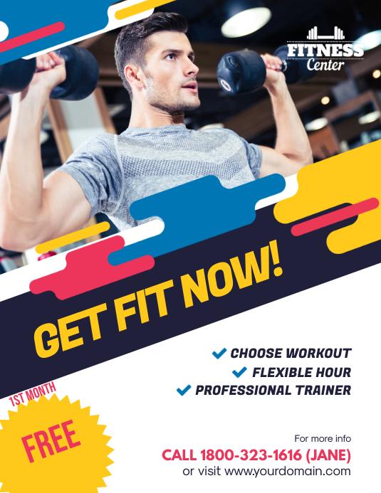 Fitness Gym Center Promotion Flyer Poster