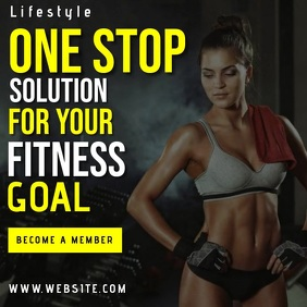 fitness gym CLUB AD TEMPLATE