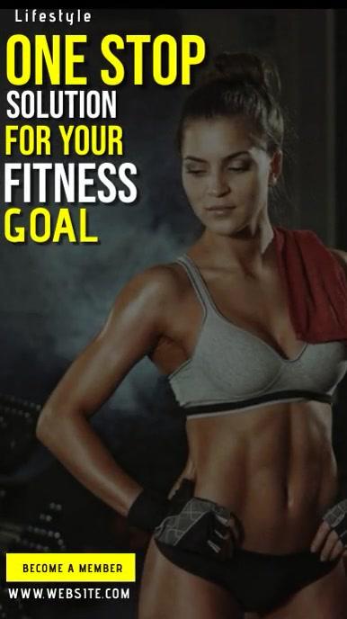 fitness gym CLUB AD TEMPLATE Historia de Instagram