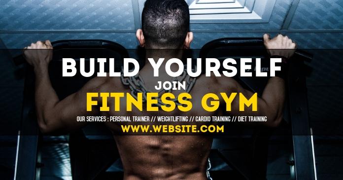 Fitness Gym facebook shared image advertiseme