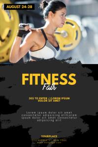 Fitness Gym Fair Expo Flyer Template