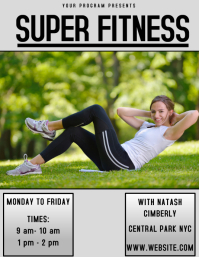FITNESS GYM FLYER AD POSTER TEMPLATE