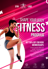 Fitness Gym Flyer A4 template