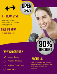 Fitness Gym Flyer (format US Letter) template