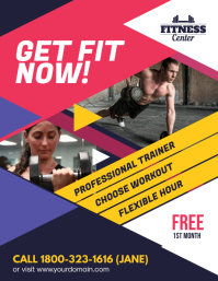 Fitness Gym Promotion Flyer Poster template