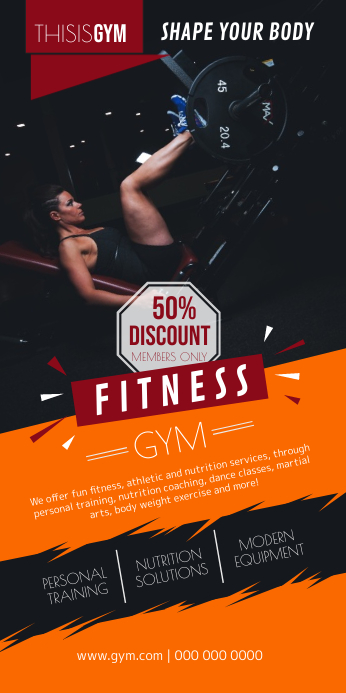 Fitness Gym Roll up Banner