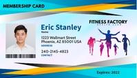 Fitness ID Cartão de visita template