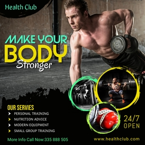 Fitness Instagram Promotional Template