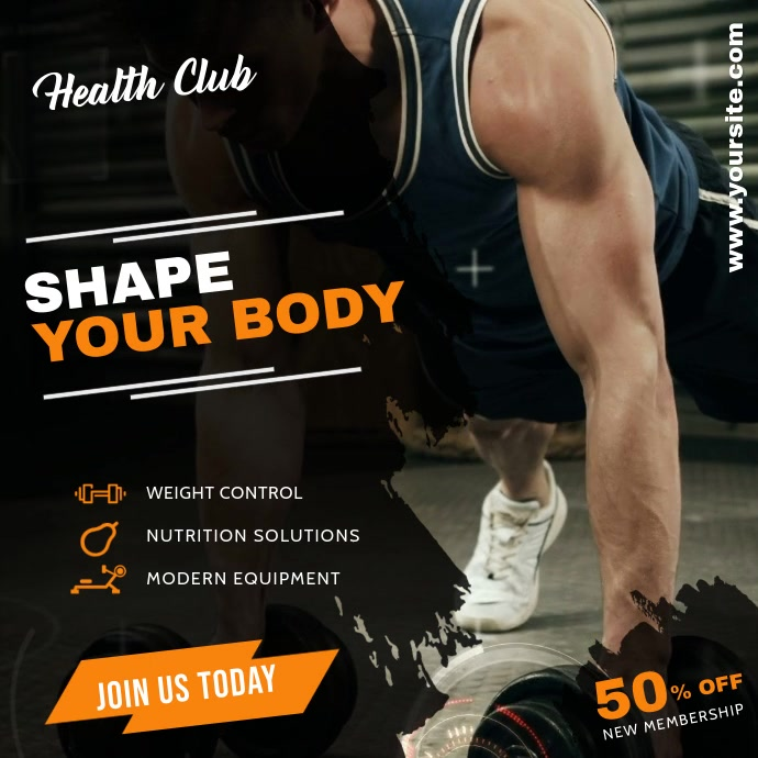 Fitness Instagram template