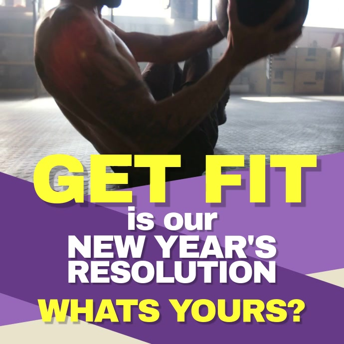 Fitness New Year Template PosterMyWall