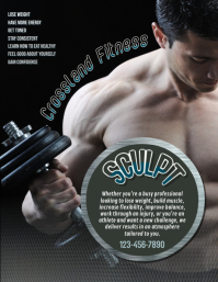 fitness personal trainer flyer template