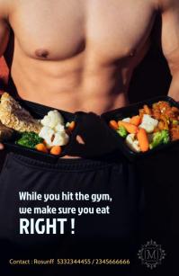 Fitness Poster Poniekoerant template
