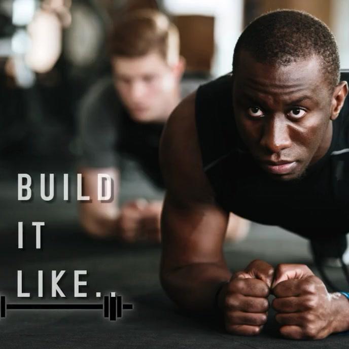 Fitness poster ปกอัลบั้ม template