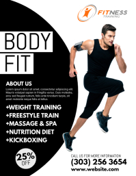 Customizable Design Templates For Fitness Ad