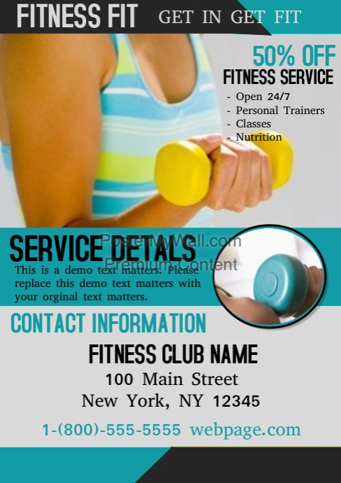 Fitness Template | PosterMyWall