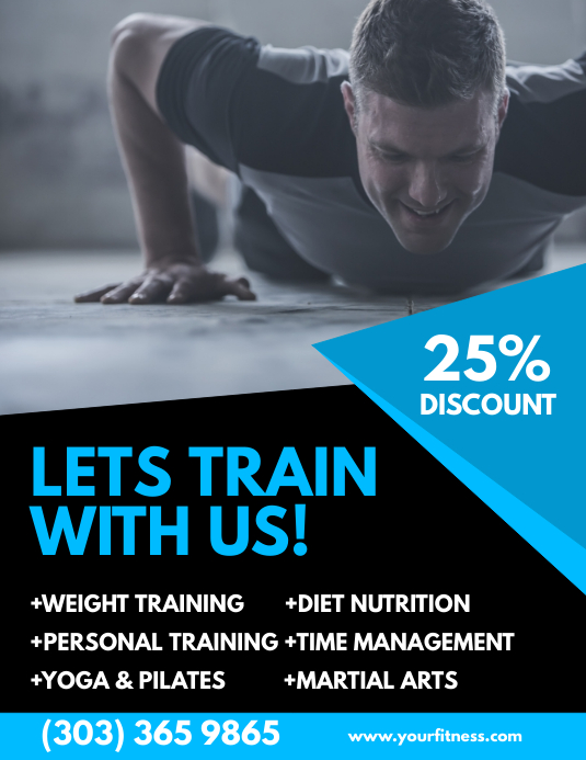 Customize 2 470 Fitness Templates Postermywall