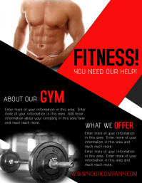 customizable design templates for muscle postermywall