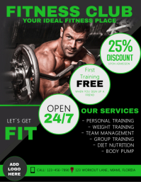 2 110 customizable design templates for fitness class flyer
