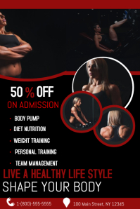 Fitness Banner 4' × 6' template