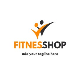 Fitness shop or double man icon logo Logotyp template