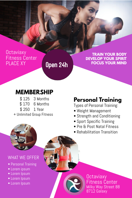 Fitness sport offer personal training Advert