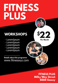 Fitness Sport Training Gym advert Workout Ad