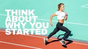 Fitness Sports Post di Twitter template