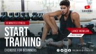 Fitness training youtube thumbnail design template