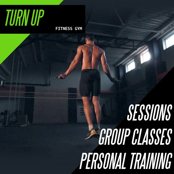 Fitness Video Template Quadrado (1:1)