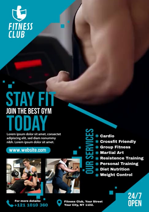 Fitness Video Template A4