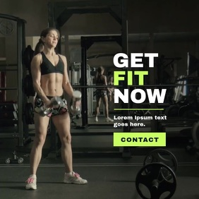Fitness Workout/Crossfit Poster, Video Campai