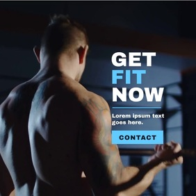 Fitness Workout/Crossfit Poster, Video Campai template