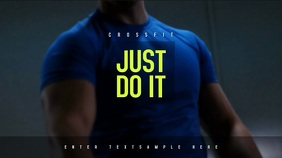 Fitness Workout/Crossfit Poster, Video Campaign