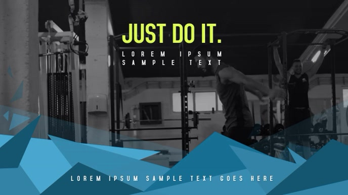 Fitness Workout/Crossfit Poster, Video Campaign Tampilan Digital (16:9) template