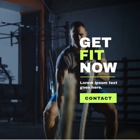 Fitness Workout/Crossfit Poster, Video Temp.